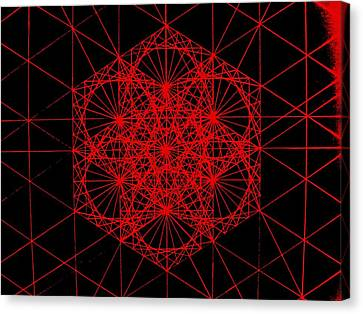 Canvas Print featuring the drawing Snowflake Shape Comes From Frequency And Mass by Jason Padgett