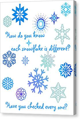 Snowflakes Canvas Print by Methune Hively