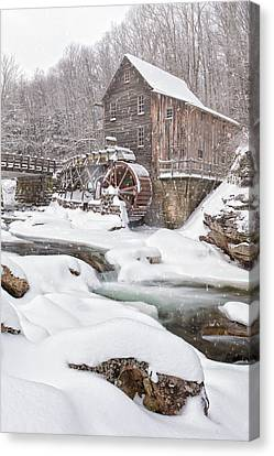 Snowglade Creek Grist Mill Canvas Print