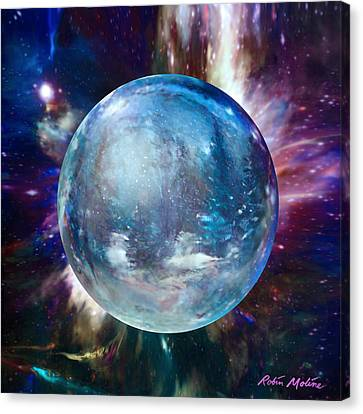 Snowglobular Canvas Print by Robin Moline