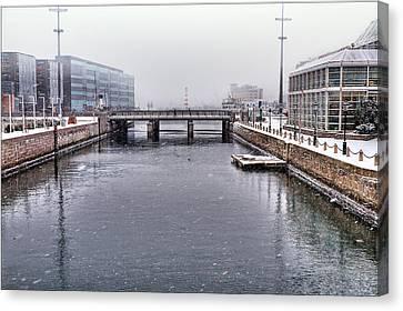 Waterscape Canvas Print - Winter Bridge by EXparte SE