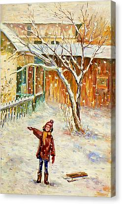 Snowing Canvas Print
