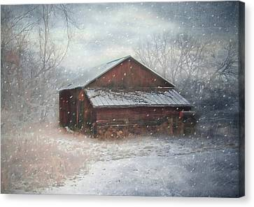 Snowland Canvas Print by Mary Timman