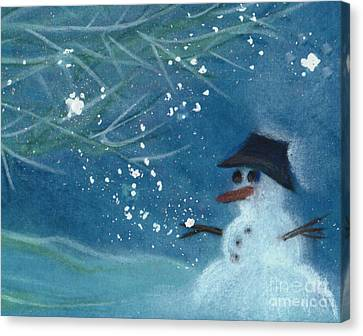 Snowman By Jrr Canvas Print by First Star Art