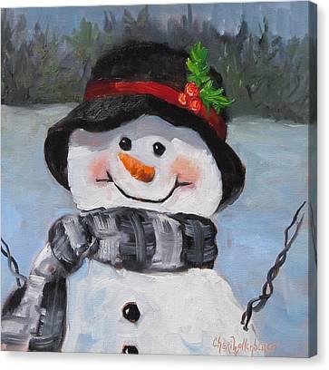 Snowman Iv - Christmas Series Canvas Print