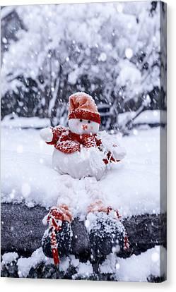Snowman Canvas Print by Joana Kruse