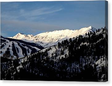 Canvas Print featuring the photograph Snowmass Mountain - Wild Cat Ranch by Allen Carroll