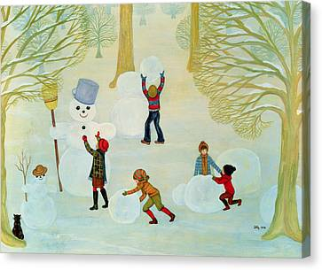 Snowmen Canvas Print by Ditz