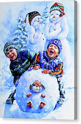 Snowmen Canvas Print by Hanne Lore Koehler