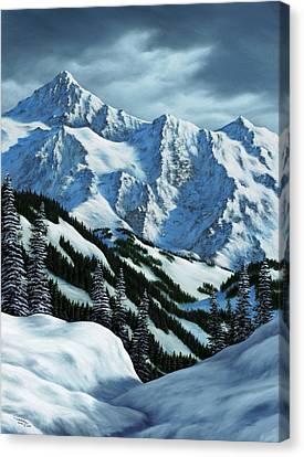 Snowpack Canvas Print by Rick Bainbridge