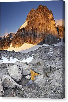 Snowpatch Spire At Sunrise Canvas Print