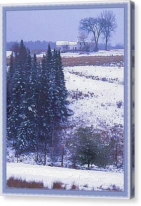Snow's Arrival Canvas Print by Joy Nichols