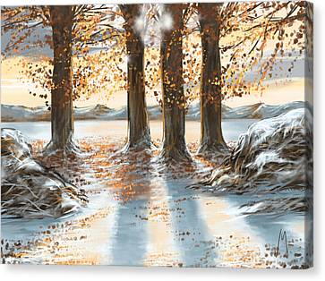 Snowscape Canvas Print - Snowscape by Veronica Minozzi