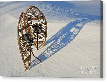Canvas Print featuring the photograph Snowshoes I by Jessie Parker
