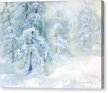 Snowstorm Canvas Print by Joy Nichols