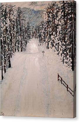 Snowy 27th Canvas Print by Leslie Byrne
