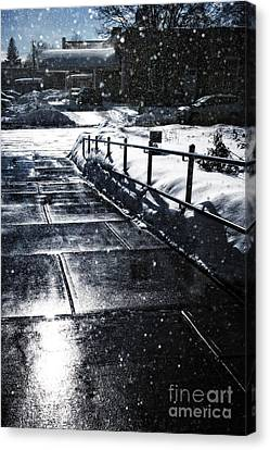 Snowy Day Canvas Print - Snowy Afternoon by HD Connelly