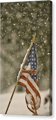 Snowy American Canvas Print by Trish Tritz
