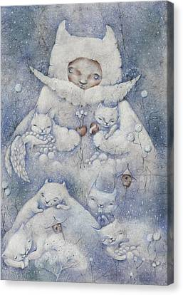 Snowy And Tender Canvas Print by Anna Petrova