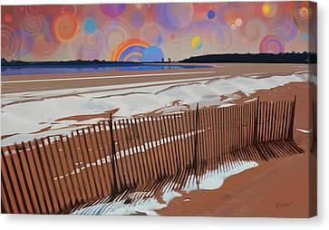 Snowy Beach Canvas Print by David Klaboe