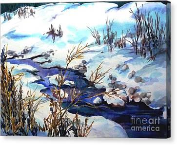 Snowy Blue Canvas Print