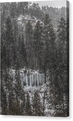 The Snowy Cliffs Of Spearfish Canyon South Dakota Canvas Print