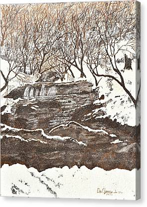 Snowy Creek Canvas Print by Leo Gehrtz