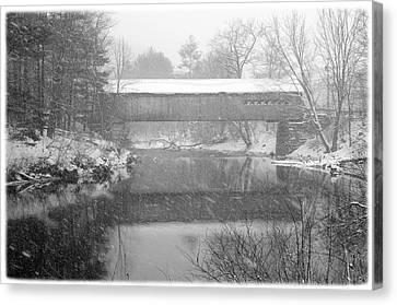 Snowy Crossing Canvas Print by Luke Moore