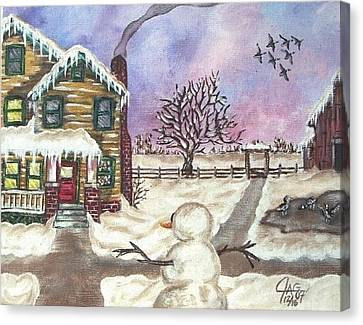 Snowy Day Canvas Print by The GYPSY And DEBBIE