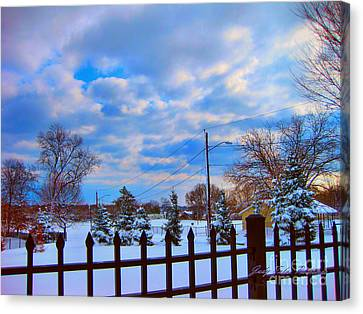 Snowy Day Canvas Print by Judy Palkimas