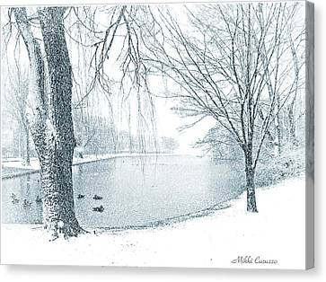 Snowy Day Canvas Print by Mikki Cucuzzo