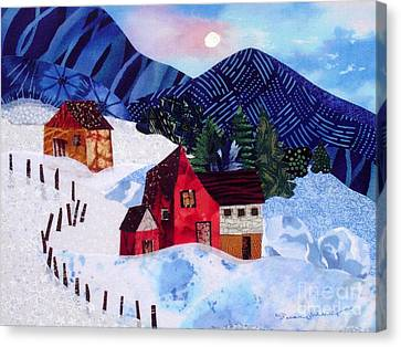 Snowy Day Canvas Print by Susan Minier