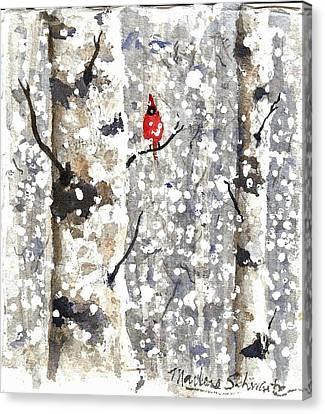 Snowy Hello Canvas Print