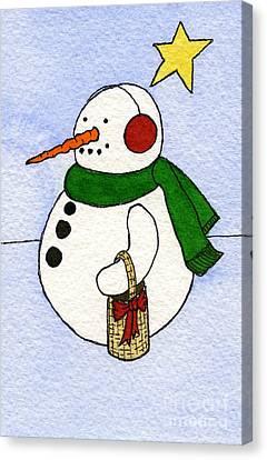 Snowy Man Canvas Print by Norma Appleton