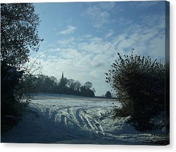 Canvas Print featuring the photograph Snowy Morning by Jean Walker