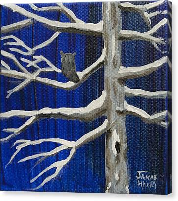 Snowy Night Canvas Print by Jaime Haney