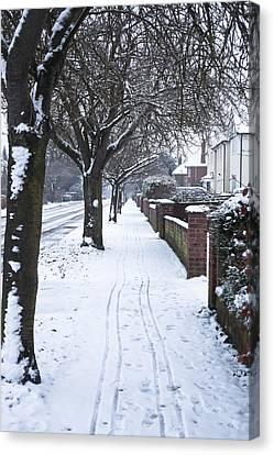 Long Street Canvas Print - Snowy Path by Tom Gowanlock