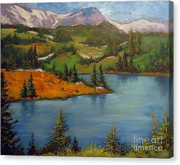Canvas Print featuring the painting Snowy Range by Carol Hart