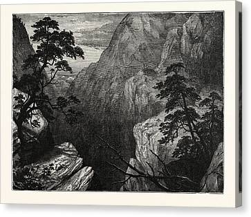 Snowy Range Of The Sierra Madre, Rocky Mountains Canvas Print