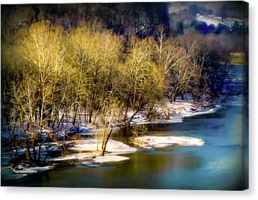 Snowy River Canvas Print by Karen Wiles