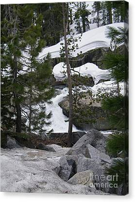 Canvas Print featuring the photograph Snowy Sierras by Bobbee Rickard