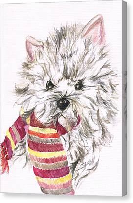 Snowy  Canvas Print by Teresa White