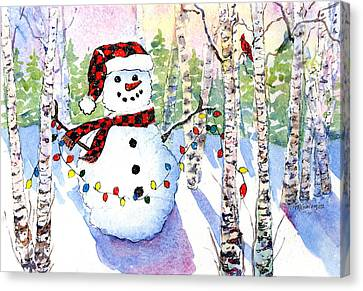 Snowy Wishes Canvas Print