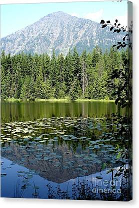 Canvas Print featuring the photograph Snyder Lake Reflection by Kerri Mortenson