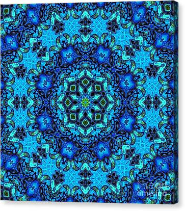 So Blue - 33 - Mandala Canvas Print