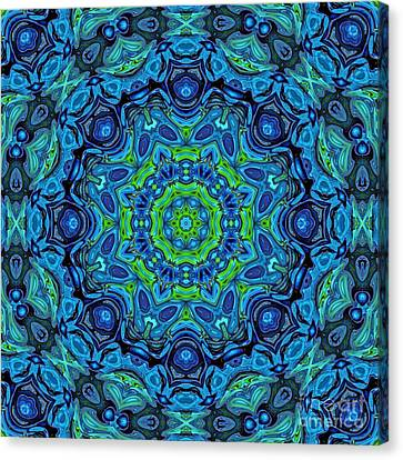 So Blue - 43 - Mandala Canvas Print