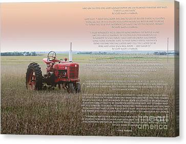 So God Made A Farmer Canvas Print by Rebecca Davis