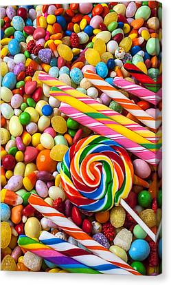 So Much Candy Canvas Print by Garry Gay