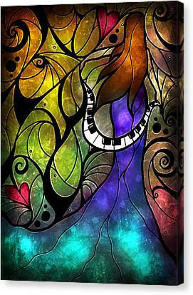 Swirling Desires Canvas Print - So This Is Love by Mandie Manzano
