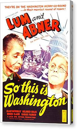 So This Is Washington, Us Poster Canvas Print by Everett